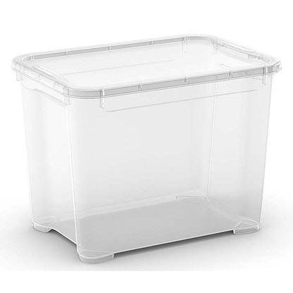Immagine di Contenitore con coperchio, T Box, trasparente, 38x26,5x28,5 cm