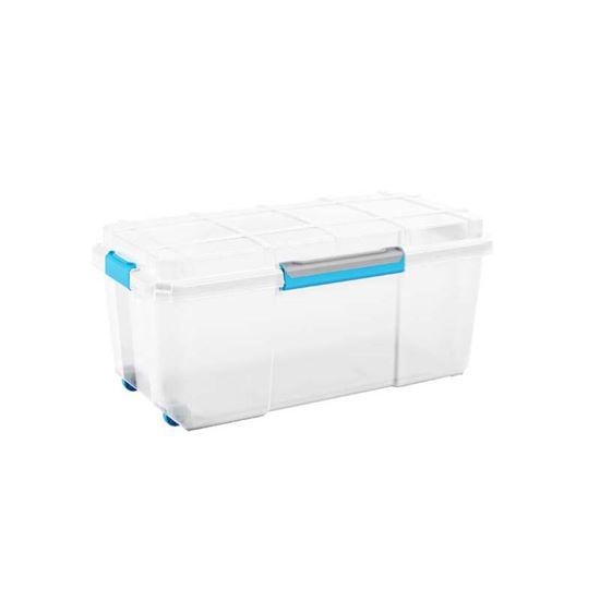 Immagine di Contenitore Scuba box, ermetico, 2 ruote, trasparente, 78x39,5xh35 cm