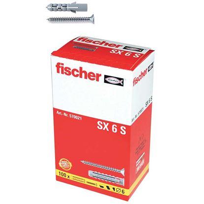Immagine di Tassello in nylon, con vite TPS pozi, SX 6 S, 100 pezzi