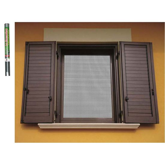 Immagine di Zanzariera in fibra di vetro, colore grigio, 80x250 cm