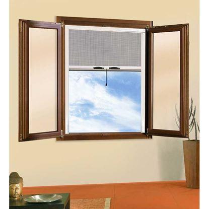 Immagine di Zanzariera a rullo, per finestra verticale, colore bronzo, 80x170 cm