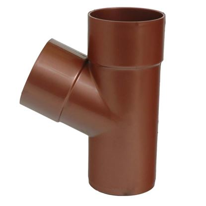 Immagine di Braga Tecno Imac, per tubo discendente, Ø 80 mm, - 67°, colore rame rosso