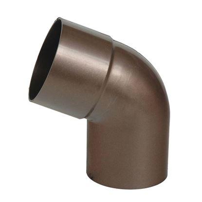 Immagine di Curva Tecno Imac, per tubo discendente, colore marrone, Ø 80 mm, 67°