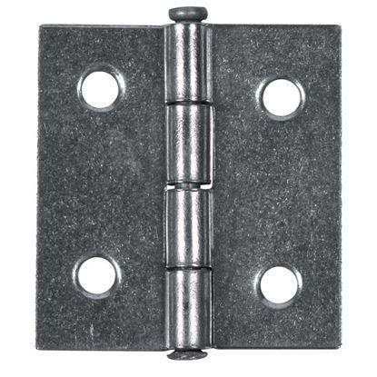 Immagine di 2 Cerniere spina fissa, 80x60 mm, ferro lucido