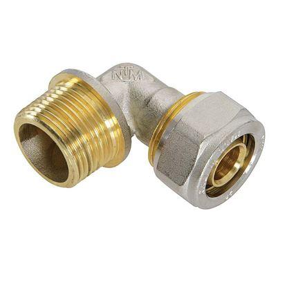 """Immagine di Raccordo a stringere a gomito, per tubo multistrato, M 3/4""""x16 mm"""
