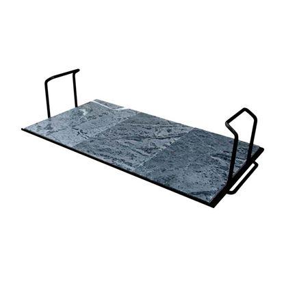 Immagine di Pietra ollare Palazzetti, Bioplatt Easy, con supporto in acciaio verniciato, 76 cm