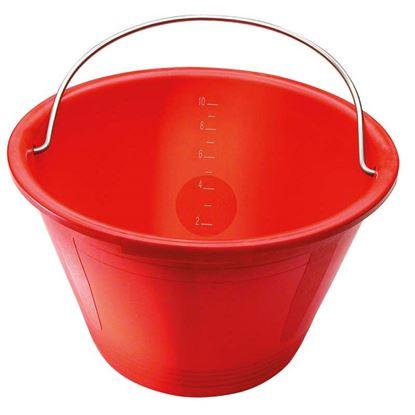 Immagine di Secchio Australian, in plastica, colore rosso, Ø 360 mm
