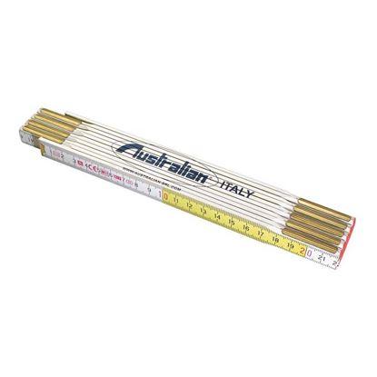 Immagine di Doppio metro Australian, in legno bianco/giallo con molla modello Stabila