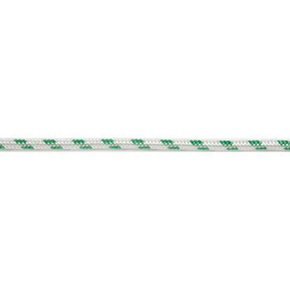 Immagine di Treccia multiuso in poliestere, colore bianco e verde, 14 mm