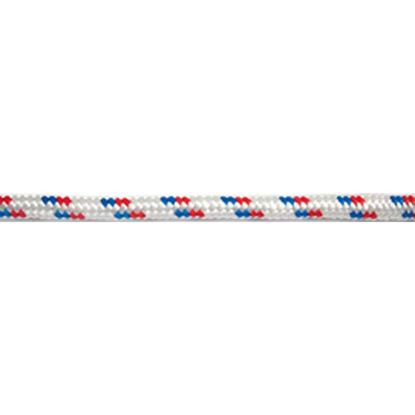 Immagine di Treccia multiuso in polipropilene, colore bianco, rosso e blu, 16 mm