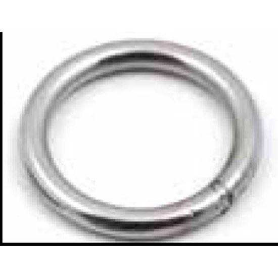 Immagine di Anelli tondi, acciaio inox AISI 316, 4x25 mm, 4 pezzi