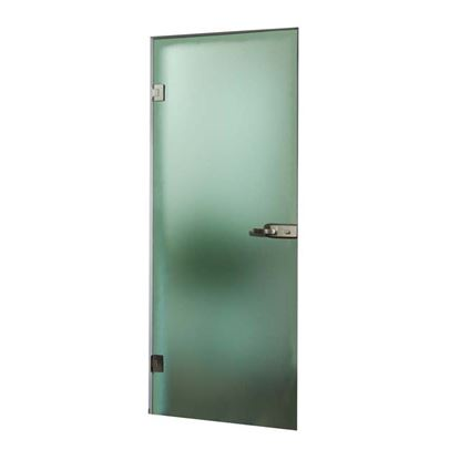 Immagine di Porta a vento battente, cristallo temperato, 8 mm, colore fumè, 70x210 cm