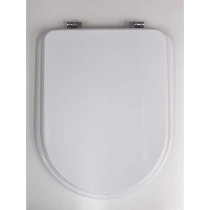 Immagine di Sedile WC Elios, in MDF, colore bianco