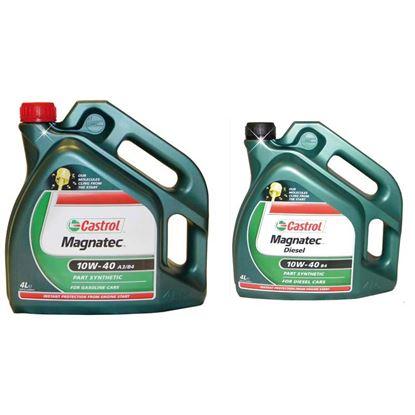 Immagine di Olio Castrol, Magnatec, SAE 10W-40 a3/b4, lubrificante semisintetico, per motori diesel e benzina, 4 lt