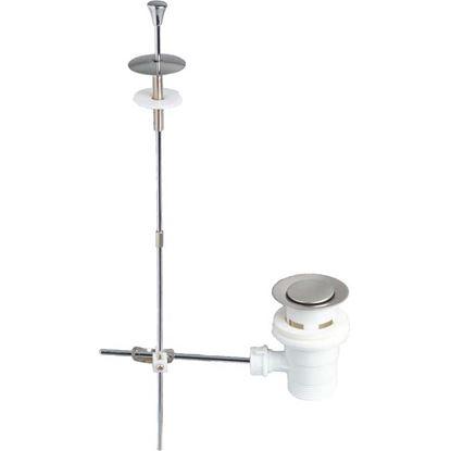 """Immagine di Piletta lavabo Wirquin, con asta, PP, 1""""1/4"""