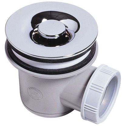 Immagine di Piletta doccia Wirquin, PVC,  ispezionabile, griglia ABS, cromato, Ø60 mm