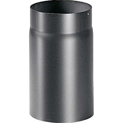 Immagine di Tubo per stufa a legna spessore 2 mm, colore nero, Ø 120 mm, 25 cm