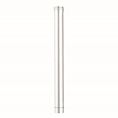 Immagine di Tubo acciaio inox AISI 316L, monoparete, Ø 130 mm, 100 cm