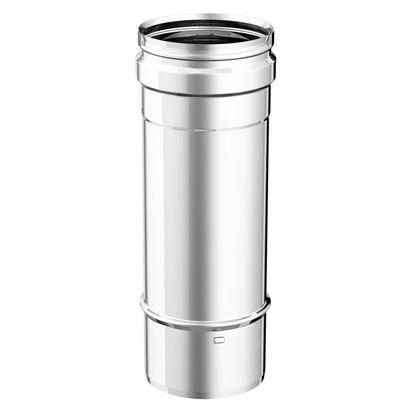 Immagine di Tubo acciaio inox AISI 316L, monoparete, Ø 100 mm, 25 cm