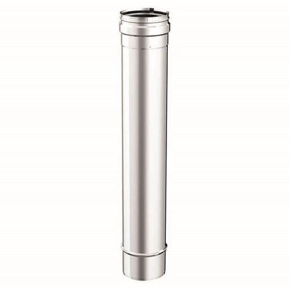 Immagine di Tubo acciaio inox AISI 316L, monoparete, Ø 100 mm, 50 cm