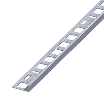 Immagine di Profile per piastrelle di chiusura, alluminio naturale, 1,0 mt, 12,5x21 mm