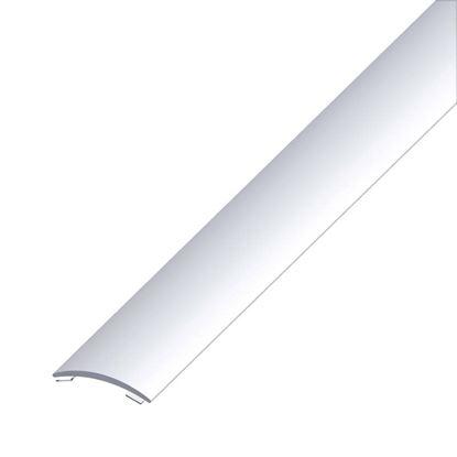 Immagine di Profilo di raccordo autoadesivo, 30x5 mm, alluminio argento, 1,0 mt