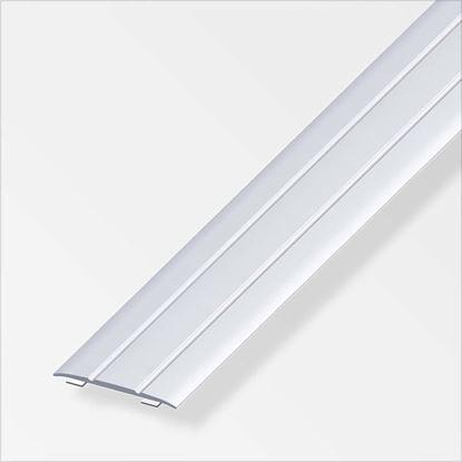 Immagine di Profilo di raccordo autoadesivo, 37x2,5 mm, 1,0 mt, alluminio ottonato