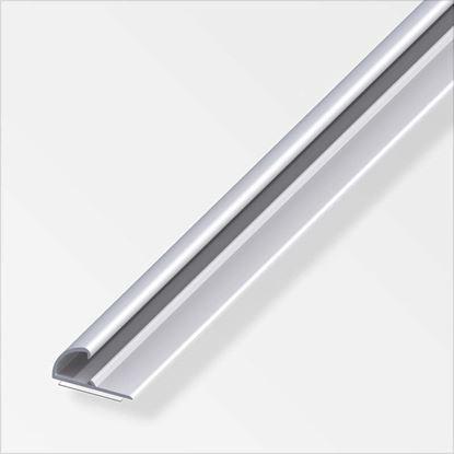 Immagine di Profilo di chiusura autoadesivo, 26x13 mm, 1,0 mt, alluminio ottonato