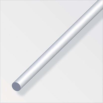Immagine di Barra tonda alluminio argento, 6 mm, 1 mt