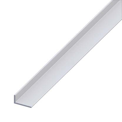 Immagine di Angolare alluminio argento, 20x10x1,5 mm, 2 mt