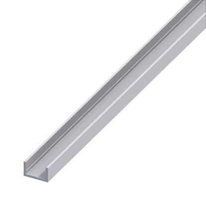Immagine di Profilo a U, alluminio argento, 10x13,5 mm, 2 mt