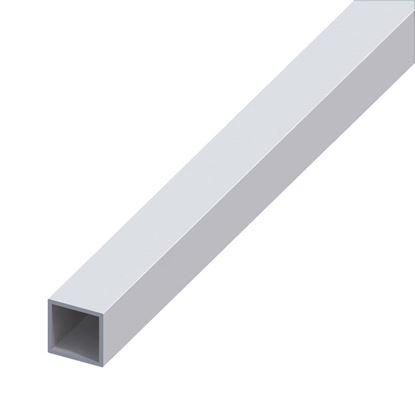 Immagine di Tubo quadrato, alluminio argento, 25x25x1,5 mm, 1 mt