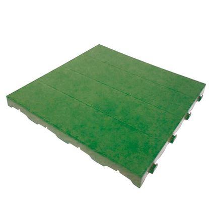 Immagine di Mattonella piena plastificata, in polietilene, carrabile, modulare, colore verde, 40x40 cm