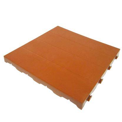 Immagine di Mattonella piena plastificata, in polietilene, carrabile, modulare, colore coccio, 40x40 cm