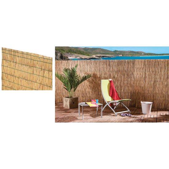 Immagine di Arella Cina, in cannette di bamboo pelato, Ø 4/5 mm, 2x5 mt, legate con filo plasticato