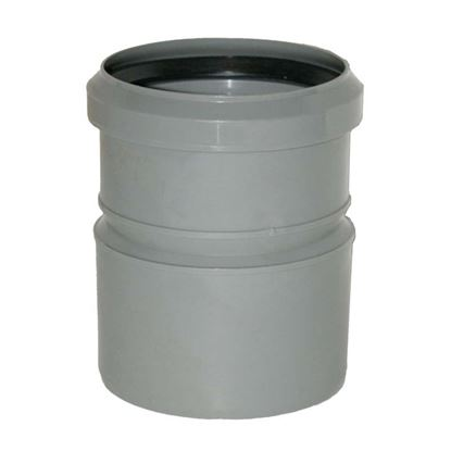 Immagine di Manicotto ridotto, per tubi PVC/polipropilene, con guarnizione, MF Ø 110/100 mm