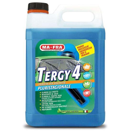 Immagine di Lavavetro Ma-Fra, Tergy 4, detergente per vaschette tergicristallo, pluristagionale, mix di alcool e detergenti, 4,5 lt