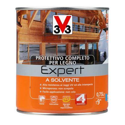 Immagine di Protettivo a solvente V33, Expert, per legno, protegge il legno da muffe e agenti deterioranti, 0,75 lt, wengè