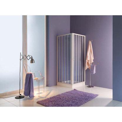 Immagine di Box doccia Playa, profilo bianco, PVC, 70/80-90/100 cm