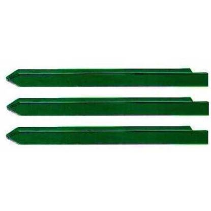 Immagine di Paletto plasticato verde, 35x35x3,4xh2250 mm