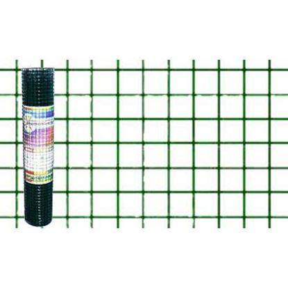 Immagine di Rete plastificata verde, maglia 13x13 mm, rotolo cm 60x5 mt