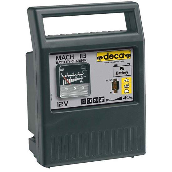 Immagine di Caricabatteria Deca, Mach 113, potenza 40 W, automatico, protezione contro circuiti, per batterie max 12 V-40 Ah