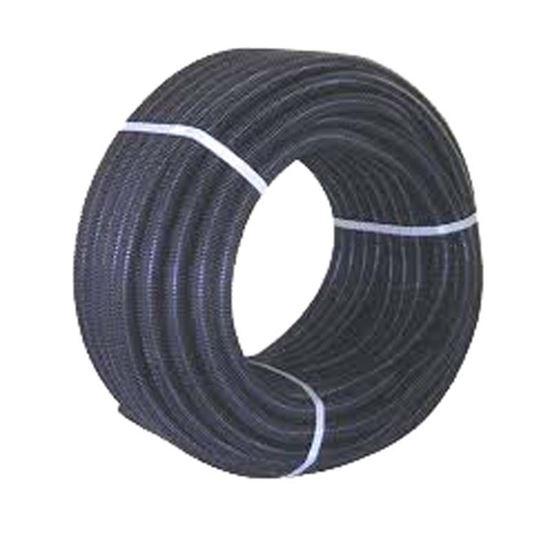 Immagine di Tubo corrugato, colore nero, con tirafilo, bobina 100 mt, Ø20 mm