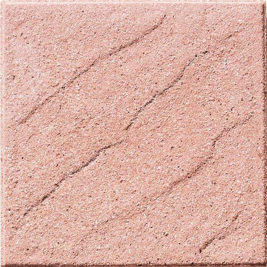 Immagine di Pavimento martellinato con bisello, da esterno, , 40x40 cm, colore onda rossa
