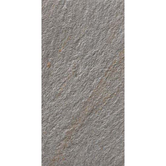 Immagine di Pavimento varana grigio, gres porcellanato, smaltato, ideale per esterno, confezione da 1,35 m², 17x34 cm