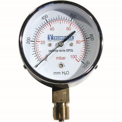 Immagine di Manometro gas radiale, 0/100 mbar, Ø 63 mm, 1/4''