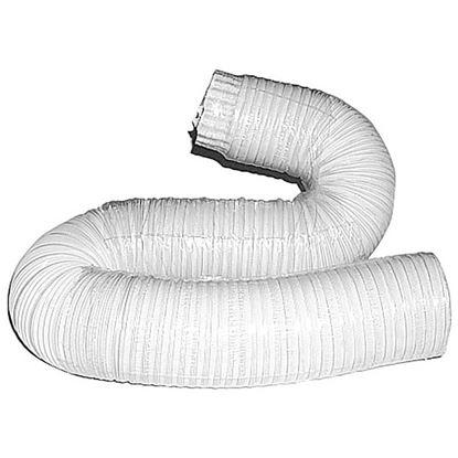 Immagine di Tubo alluminio compresso, colore bianco, 1x3 mt, Ø 130 mm