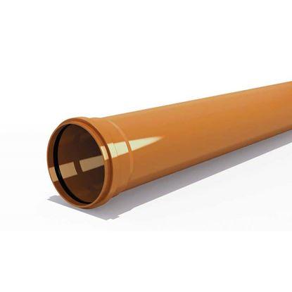 Immagine di Tubo PVC, per fognature e scarichi interrati, SN 4, UNI - EN 1401, IIP, Ø250 mm, spessore 6,2 mm