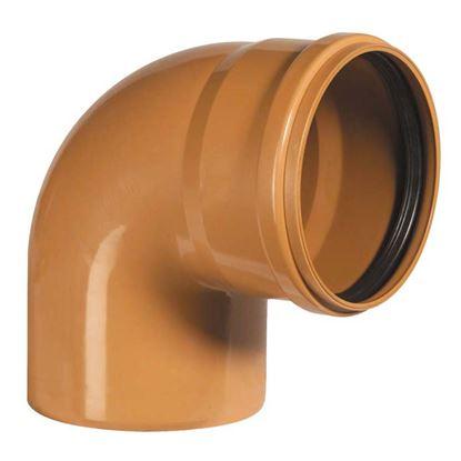 Immagine di Curva 90° PVC, per fognature e scarichi interrati, SN 4, EN 1401, Ø125 mm, spessore 3,2 mm