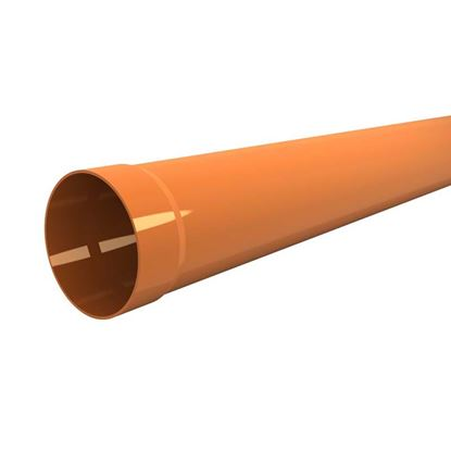 Immagine di Tubo in PVC, per scarichi civili ed industriali F/N, colore arancio, Ø mm 100x1 mt